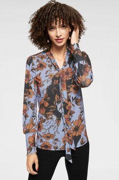 aniston selected blouse met kraagstrik blauw