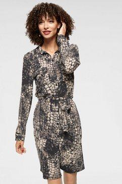 aniston selected jurk met overhemdkraag zwart