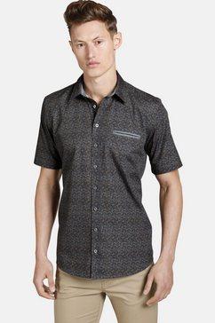 shirtmaster overhemd met korte mouwen »autumnleaves« groen