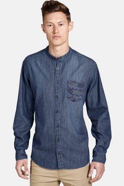 shirtmaster jeanshemd »funkydenim« blauw