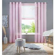 gordijn, »xana«, my home, ringen per stuk roze