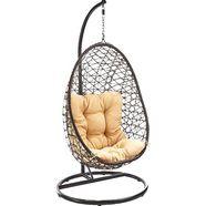 locker hangstoel crisscross bruin