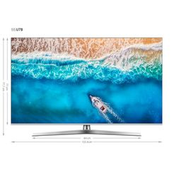 hisense h55u7b led-tv (138 cm - 55 inch), 4k ultra hd, smart-tv zilver