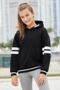 bench. hoodie met rugprint en in extra wijd model zwart