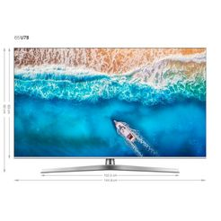 hisense h65u7b led-tv (163 cm - 65 inch), 4k ultra hd, smart-tv zilver