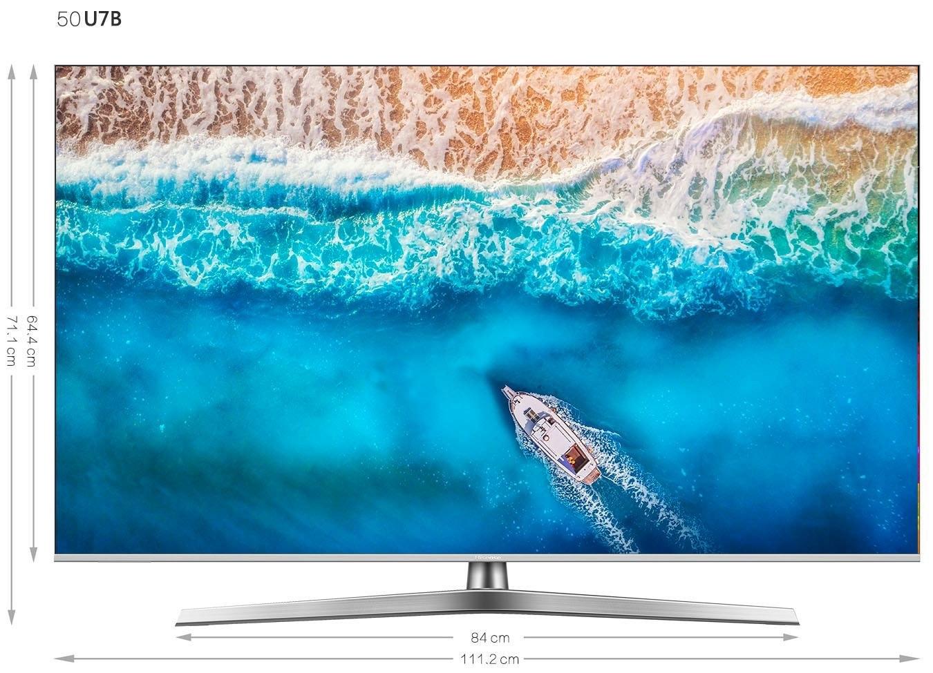 Hisense H50U7B led-tv (126 cm / 50 inch), 4K Ultra HD, smart-tv bestellen: 30 dagen bedenktijd