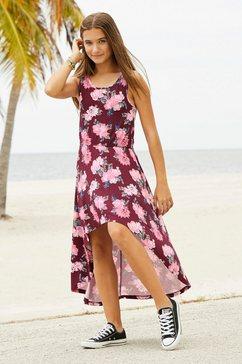 arizona jurk, voor kort en achter lang rood