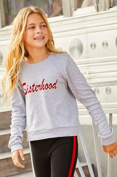 buffalo shirt met lange mouwen »sisterhood« grijs