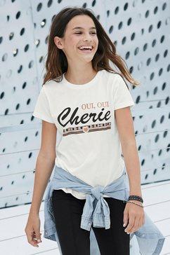arizona t-shirt »cherie« beige