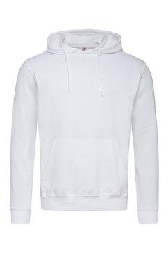 stedman hoodie met elastische ribboorden wit