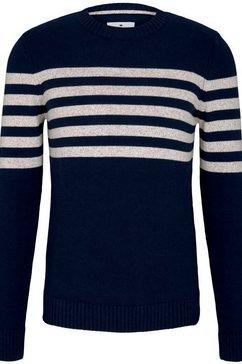 tom tailor trui met ronde hals blauw