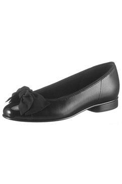 gabor ballerina's met luxueuze strik zwart