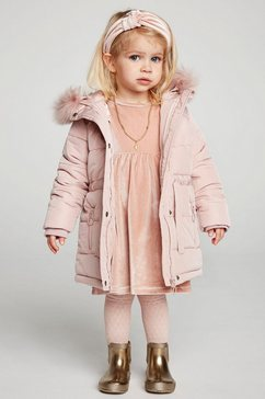 creamie doorgestikte mantel roze