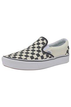 vans sneakers »comfycush slip-on checkerboard« zwart
