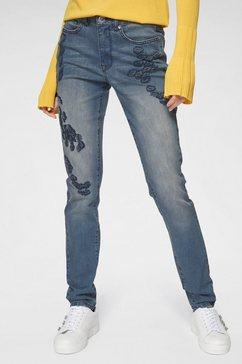guido maria kretschmer skinny fit jeans blauw