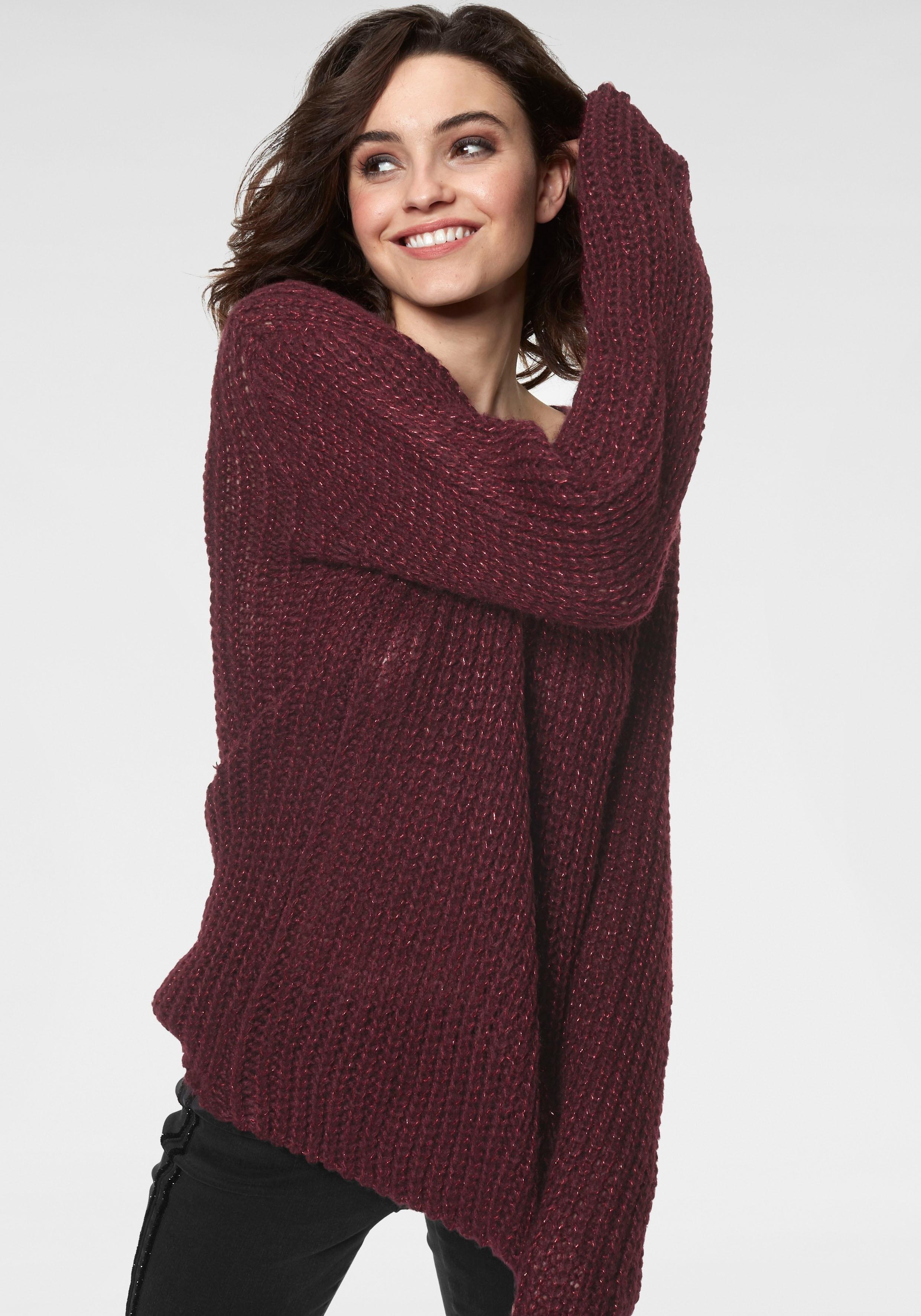 Guido Maria Kretschmer trui met V-hals (set, 2-delig, met sjaal) nu online kopen bij OTTO