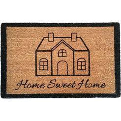mat, »cottage pure 1«, astra, rechthoekig, hoogte 15 mm, natuurproduct bruin