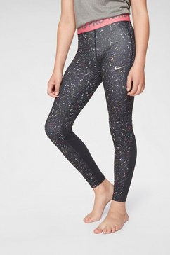 nike functionele tights »girls nike performance tight print« zwart