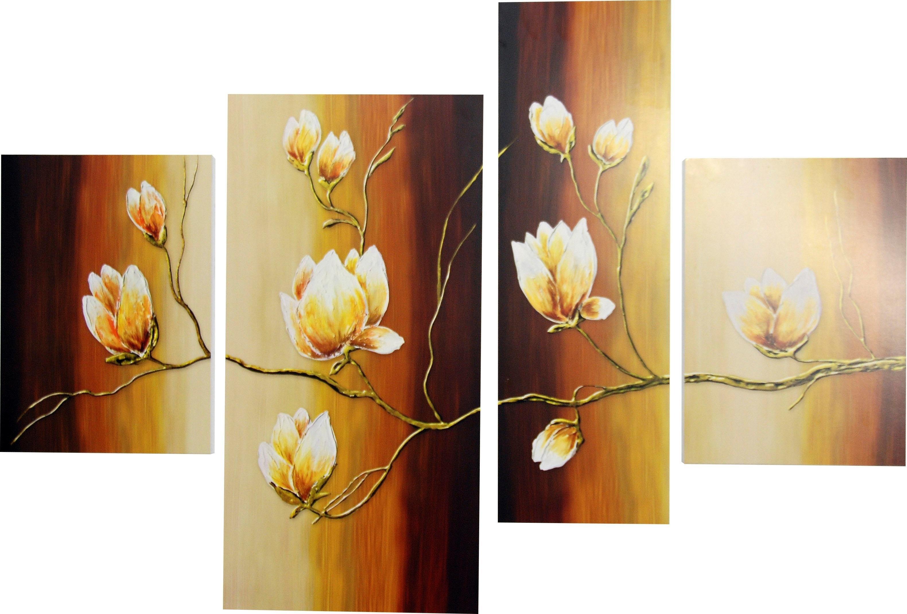 Op zoek naar een DELAVITA wanddecoratie RUMIN / magnoliatak (4 stuks)? Koop online bij OTTO