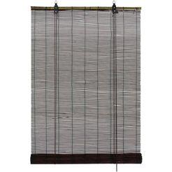 rolgordijn met zijbediening »bamboe«, gardinia, lichtwerend, met boren, vrijhangend bruin