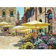 delavita artprint behrens - bloemenmarkt in siena multicolor