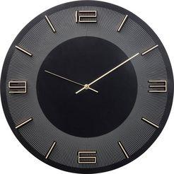 kare wandklok »leonardo« zwart