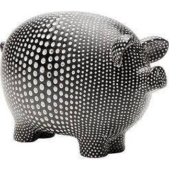 kare opbergbox »art pig« zwart