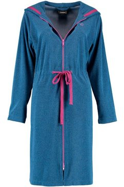 cawoe damesbadjas »woman zipper« blauw