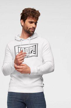 joop jeans hoodie »modern fit - alarik« wit