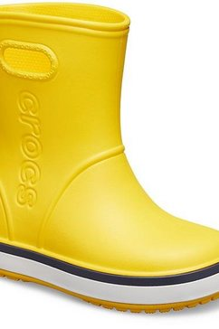 crocs rubberlaarzen »crocband rain boot kids« geel