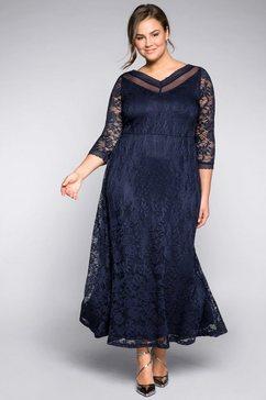 sheego style kanten jurk blauw