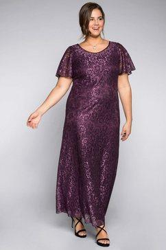 sheego style kanten jurk paars