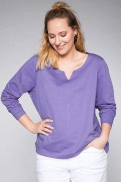 sheego casual sweatshirt paars
