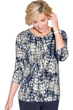 classic shirt in soepelvallende viscosekwaliteit blauw