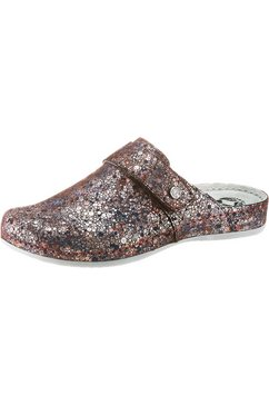 mubb clogs in metallic-look goud