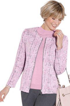 classic shirtjasje met een prachtig jacquarddessin roze