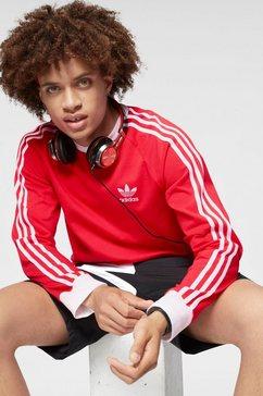 adidas originals shirt met lange mouwen »3 stripe longsleeve« rood