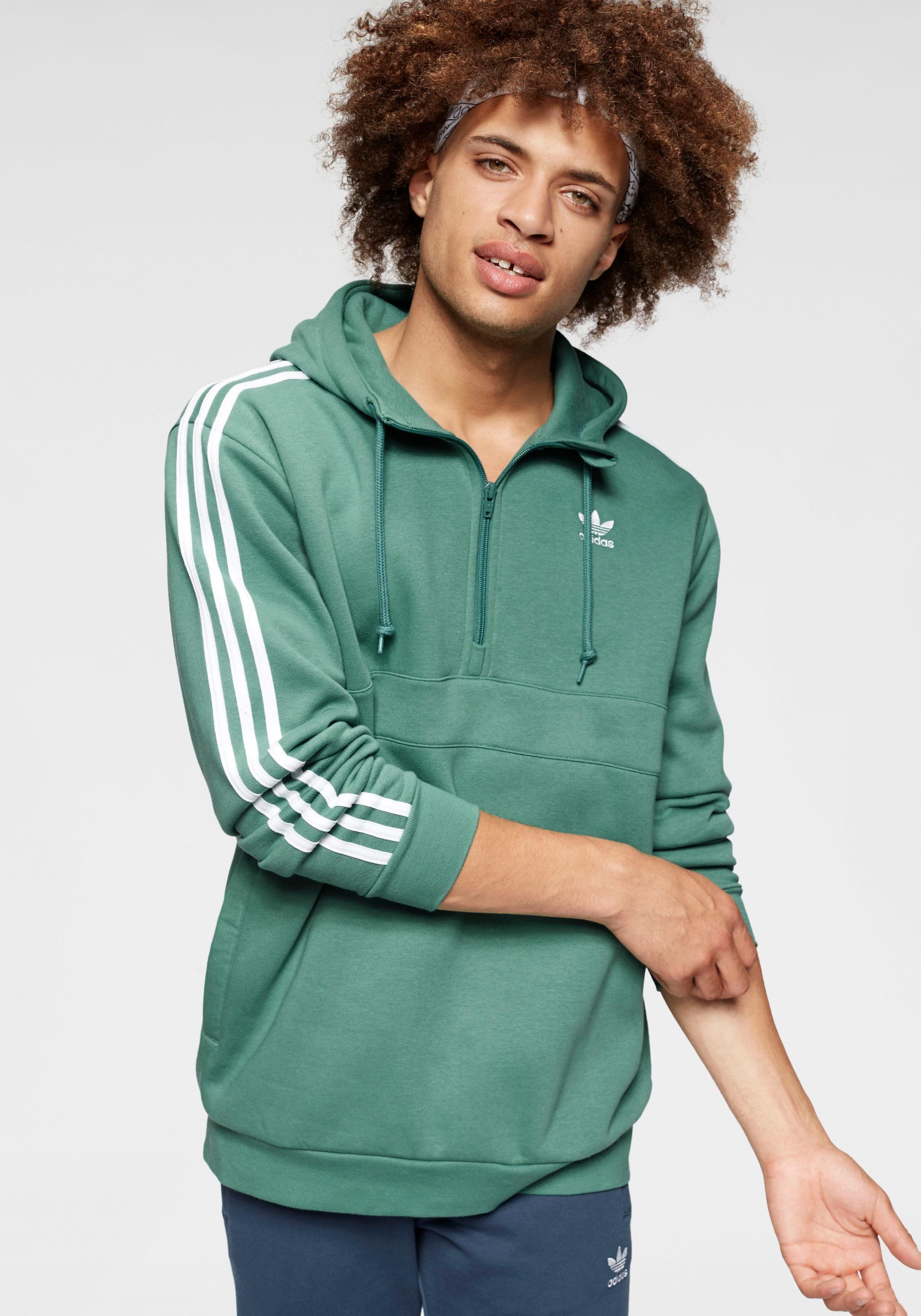 Adidas Originals Hoodie 3 Stripes Half Zip Vind Je Bij - Geweldige Prijs