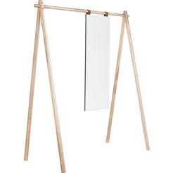karup staande kapstok »hongi« met spiegel beige
