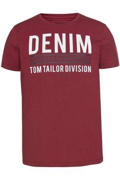 tom tailor denim shirt met ronde hals rood