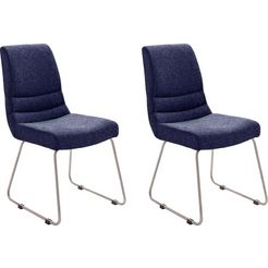 mca furniture stoel montera set van 2, stoel belastbaar tot 140 kg (2 stuks) blauw