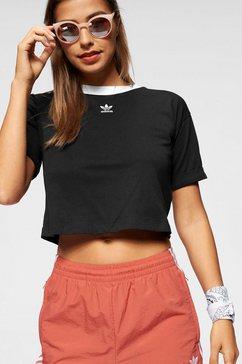 adidas originals t-shirt »crop top« zwart