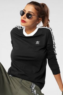 adidas originals shirt met lange mouwen »3 stripes long sleeve« zwart