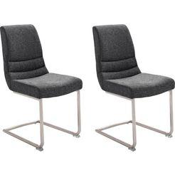 mca furniture vrijdragende stoel montera stoel belastbaar tot 140 kg (set, 2 stuks) grijs