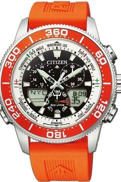 citizen chronograaf »promaster marine yacht, jr4061-18e« oranje