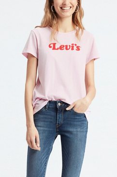 levi's t-shirt met print »perfect graphic tee« roze