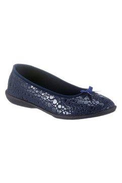 casual looks ballerina's met strik voor blauw