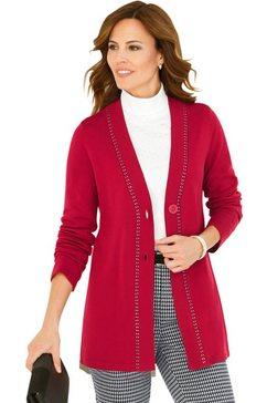 lady lang vest met mooie glinstersteentjes rood