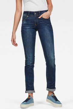 g-star raw slim fit jeans »midge mid straight wmn« blauw