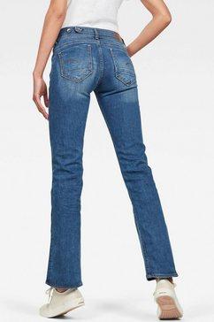 g-star raw bootcut jeans »midge mid bootcut« blauw